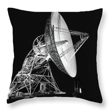 Deep Space Tracking Station Throw Pillow