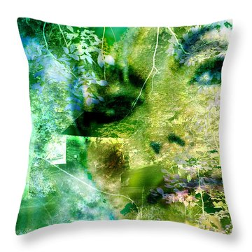 Throw Pillow featuring the digital art Deep Woods Wanderings by Seth Weaver