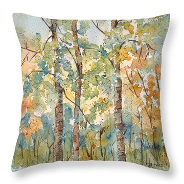 Deep Woods Waskesiu Throw Pillow