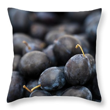 Deeply Damson Throw Pillow by Anne Gilbert