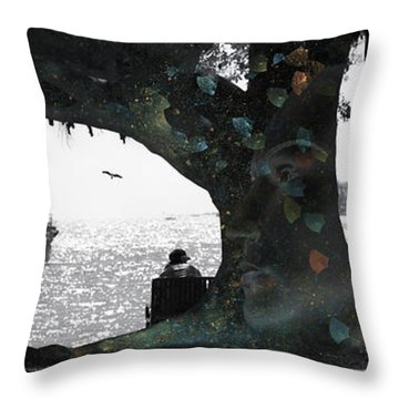 Deeply Rooted Throw Pillow by Betsy Knapp