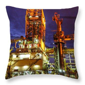 Deepwater Millenium 20 Miles Off Coast Of Ghana Throw Pillow