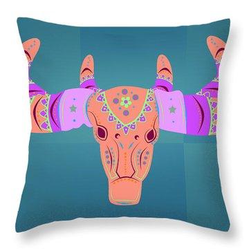 Deer 3 Throw Pillow by Mark Ashkenazi