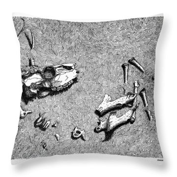 Deer Bones Throw Pillow