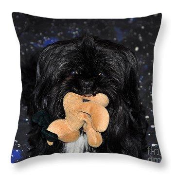 Deer Dog Throw Pillow by Al Powell Photography USA