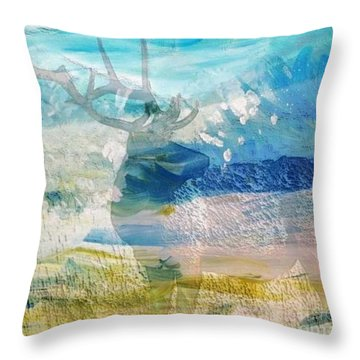 Deer Hunter Madness Throw Pillow