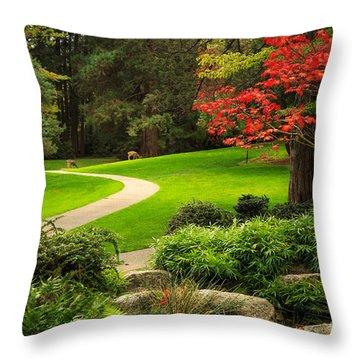 Deer In Lithia Park Throw Pillow