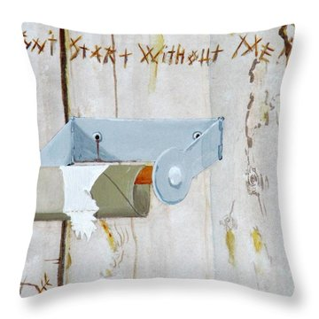 Deer Lease Dilemma Throw Pillow