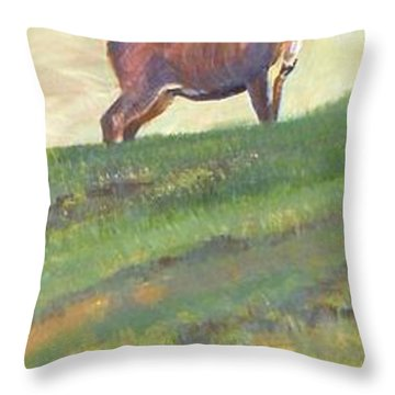 Deer Throw Pillow by Mike Jory