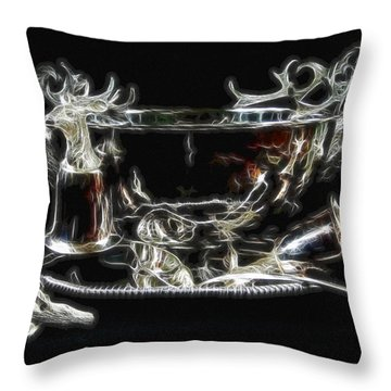 Deer Punch Bowl Set Throw Pillow by EricaMaxine  Price