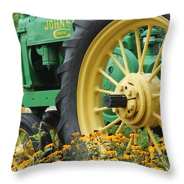 Throw Pillow featuring the photograph Deere 2 by Lynn Sprowl