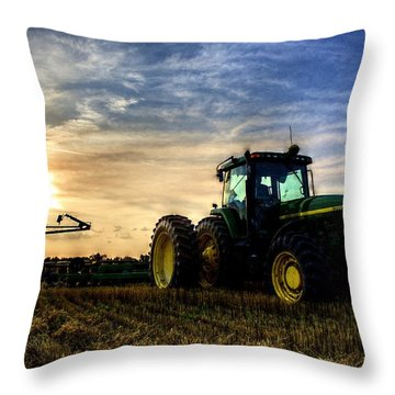 Deere Sunset Throw Pillow