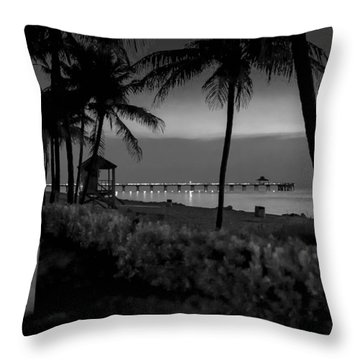 Deerfield Beach Throw Pillow by Louis Ferreira