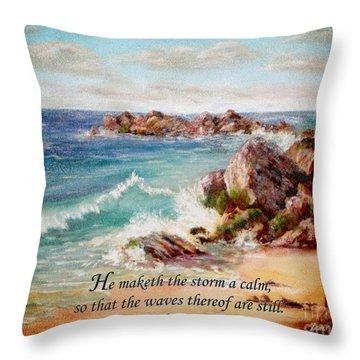 Deerfield Wave Psalm 107 Throw Pillow