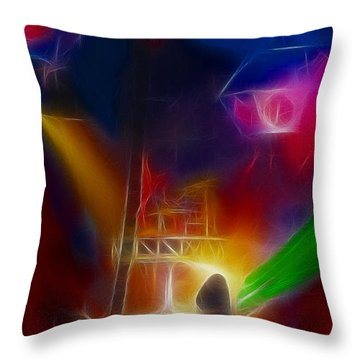 Def Leppard-adrenalize-gf10-fractal Throw Pillow by Gary Gingrich Galleries