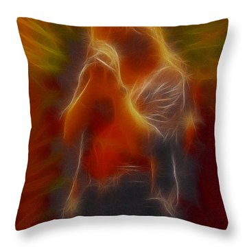 Def Leppard-adrenalize-joe-gb20-fractal Throw Pillow by Gary Gingrich Galleries