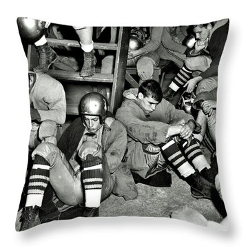 Defeated Throw Pillow by Benjamin Yeager