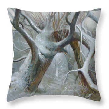 Defeated Throw Pillow by Elena Oleniuc