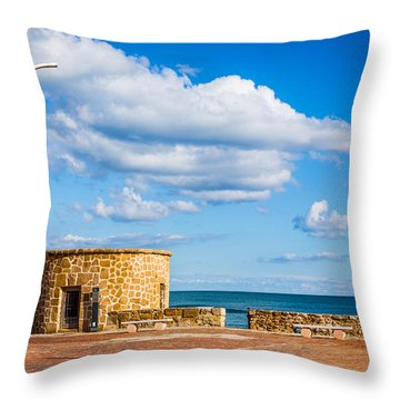 Throw Pillow featuring the photograph Defence Tower by Gary Gillette