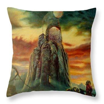 Defenders Of Rocky Desert Throw Pillow