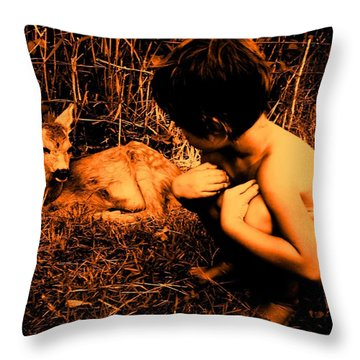 Defenseless  Throw Pillow by Giuseppe Epifani