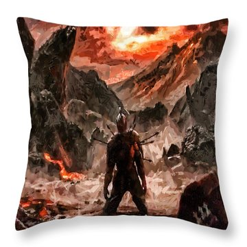 Defiant To The End Throw Pillow by Joe Misrasi