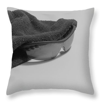 Deflated Yet Got Cool Shades Throw Pillow