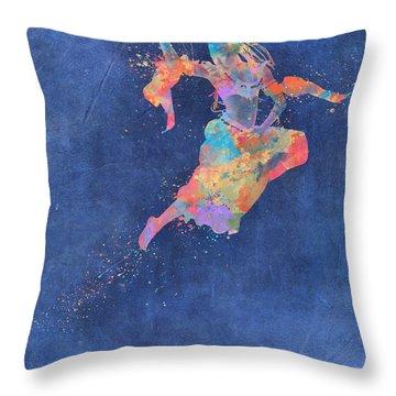 Defy Gravity Dancers Leap Throw Pillow