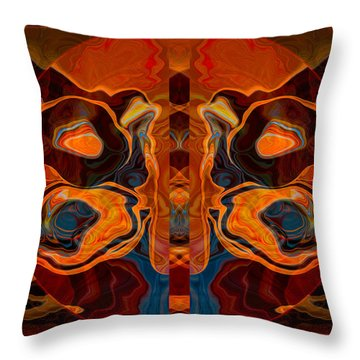 Throw Pillow featuring the painting Deities Abstract Digital Artwork by Omaste Witkowski