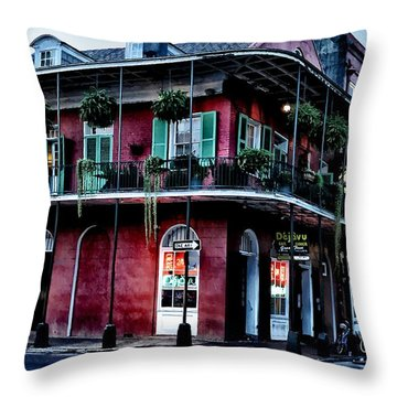 Deja Vu - Bourbon Street Throw Pillow by Bill Cannon