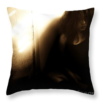 Dejection Throw Pillow