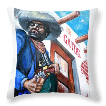 Del Gato's Place Throw Pillow by George Ameal Wilson