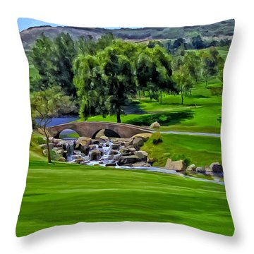Del Mar Country Club Throw Pillow by Michael Pickett