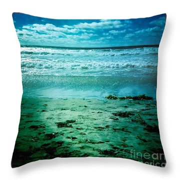 Del Mar Glow Throw Pillow