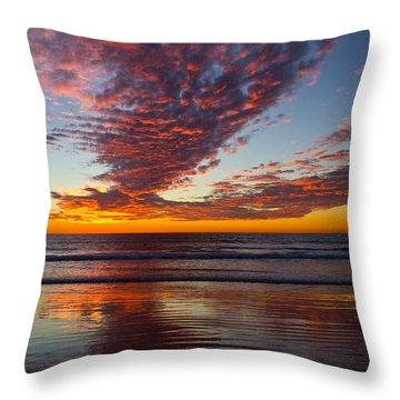 Del Mar Sunset 14 Throw Pillow