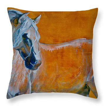 Throw Pillow featuring the painting Del Sol by Jani Freimann