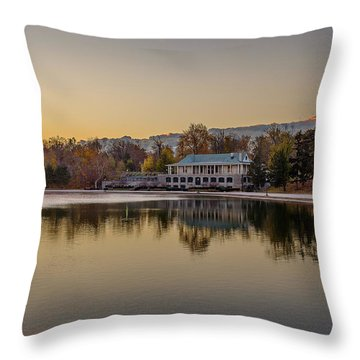 Delaware Park Marcy Casino Autumn Sunrise Throw Pillow