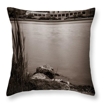 Delaware Park Marcy Casino Throw Pillow