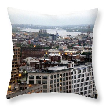 Throw Pillow featuring the photograph Delaware River 001 by Dorin Adrian Berbier