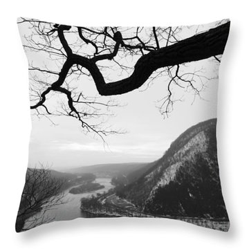 Delaware Water Gap In Winter Throw Pillow