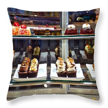 Delectable Desserts Throw Pillow