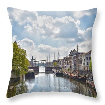 Delfshaven Rotterdam Throw Pillow