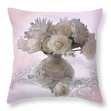 Delicacy Throw Pillow by Betty LaRue