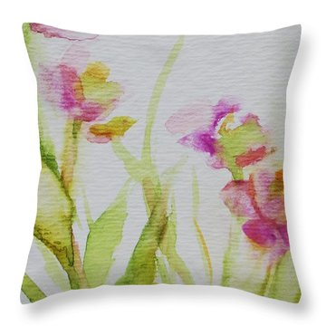 Delicate Blossoms Throw Pillow