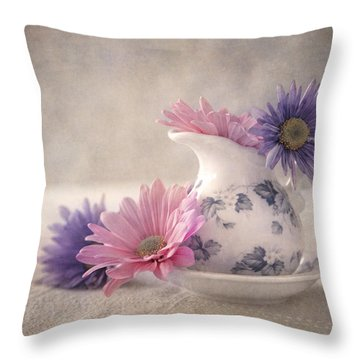 Delicate Delight Throw Pillow by Dale Kincaid