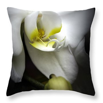 Delicate Exotic Orchid Throw Pillow