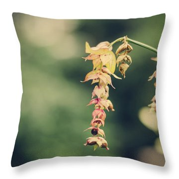 Delicate Throw Pillow by Heather Applegate