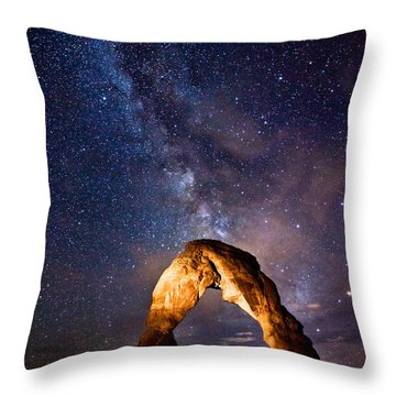 Delicate Arch Throw Pillows