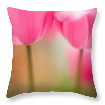 Delicate Light Of Spring Throw Pillow by Mike Reid