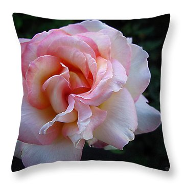 Throw Pillow featuring the photograph Delicate Pink by Joyce Dickens